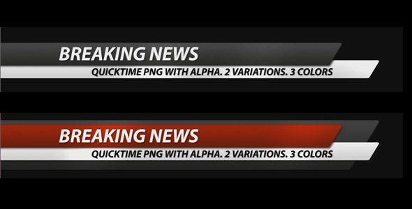 Breaking News Corporate Lower Third Pack 7 In 1 Lower Thirds Breaking News After Effects Intro Templates