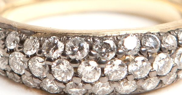 Organic Oval with Diamond Rings