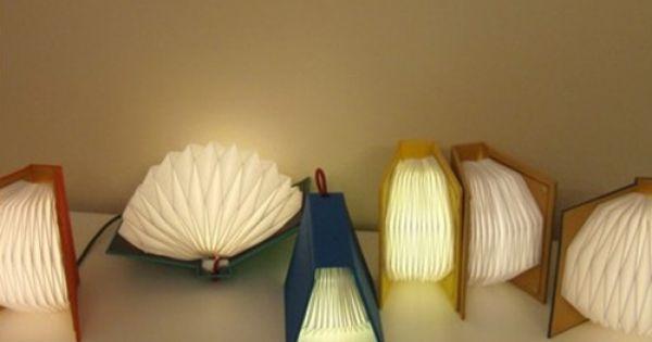 Studio Ms Book Light Delicately Pleated Paper Book Lights Via