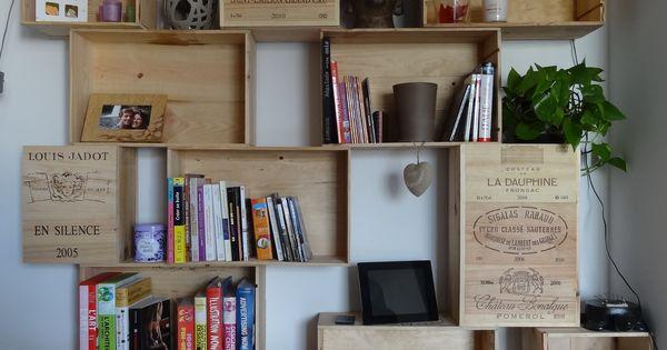 dimension d 39 une caisse vin recherche google d co pinterest madera y interiores. Black Bedroom Furniture Sets. Home Design Ideas