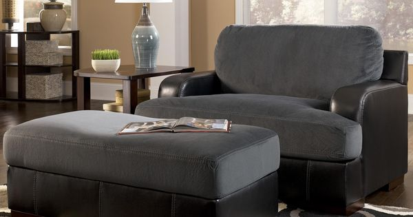 Farris Pewter Chair And A Half With Ottoman By Signature Design By Ashley Home Decorating