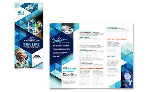 Ocean Aquarium Tri Fold Brochure Template Brochure Design