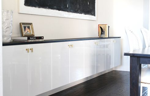 Try Ikea Cabinets In Your Dining Room For A Modern Look Just Use