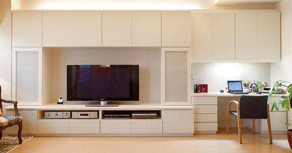 壁面収納 リフォーム 口コミ マンション リビング 収納 実例 アパートのインテリアデザイン 家のインテリアデザイン リビングルームのデザイン