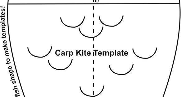 CARP KITE TEMPLATE ArtCampWorld Pinterest Kite