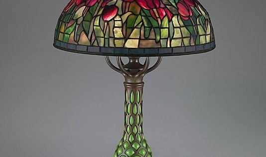 "Glass Lamp Bases South Africa: ""Tulip"" Lamp. Tiffany Studios, Ca. 1907-12. New York"