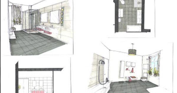 Croquis d 39 ambiance r novation de salle de bain for Croquis de salle de bain