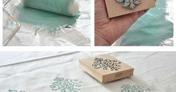 Hand stamp towels, pillows, cloth napkins, throws...whatever strikes your fancy! I love