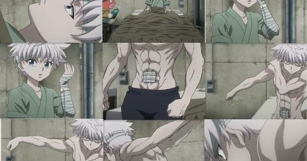 killua zoldyck  because all 14 year olds should have abs like him
