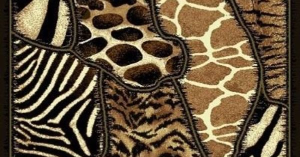 Contemporary Multi Animal Prints Area Runner Rug Skinz