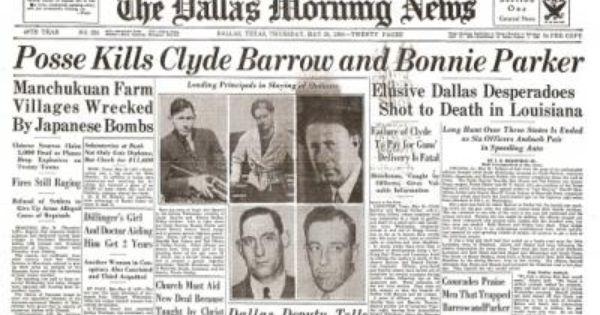 Bonnie & Clyde - News - SKC Gallery   Clyde Barrow ...