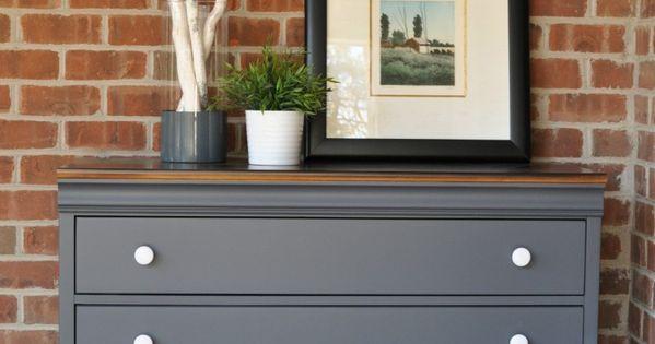 Queenstown gray dresser makeover pintando muebles for Pintar muebles laminados