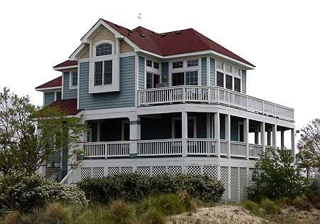 Plan 13050fl beach cottages porch and house for Beach house designs with wrap around porch