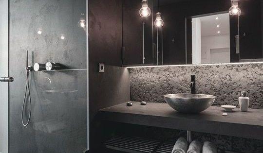 13x donker grijze badkamers modern chic pinterest grijze badkamers donker - Badkamer donker ...