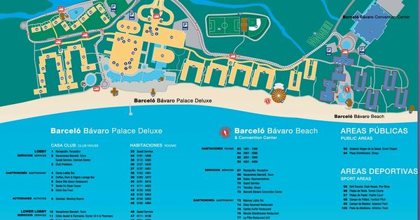 Map Of Barcelo Bavaro Palace Deluxe Punta Cana Barcelo