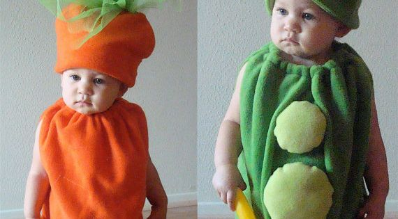 Kids Costumes Childrens Costumes Twin Costumes Halloween Costumes Peas and Carrots. Possible?