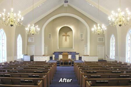 Pale Walls And White Ceiling Create A Light And Airy Feel Church Interior Design Church Interior Church Walls,4 Bedroom House Designs Uk