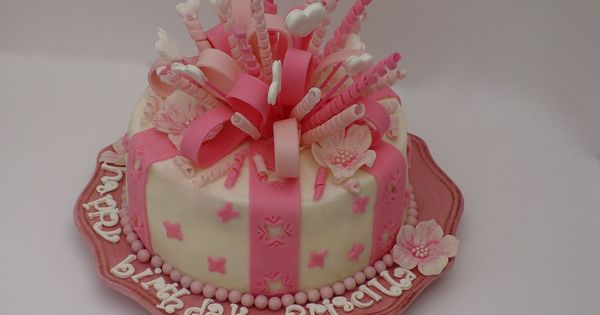 Fondant Birthday Cakes For Beginners Once Upon A