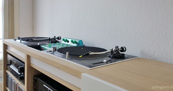 diy dj m bel aus ikea s besta serie turntable tables and music. Black Bedroom Furniture Sets. Home Design Ideas