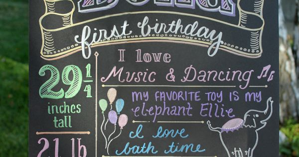 first birthday poster - cute idea
