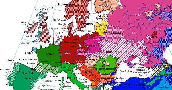 Linguistic map of Europe from 1914 – Handbooking