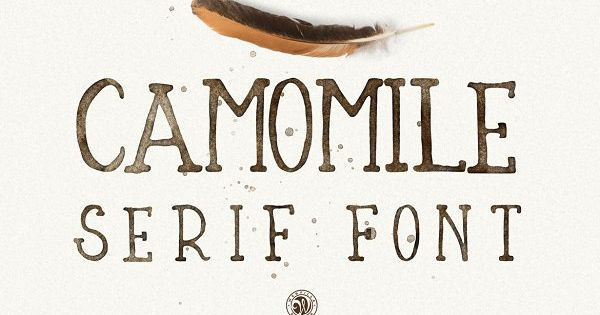 Camomile – hand lettering serif font. Ideal for invitations, logos, branding, blogs, handmade craft items, scrap booking, printed paper items and more