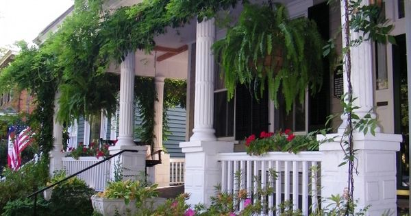 Wisteria covered Victorian Front Porch  Plants  Pinterest