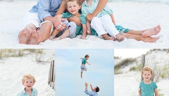 Great color scheme for beach photos | Beautiful Beach Family Photos