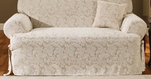 Damask Slipcover From Sure Fit Slipcovers Scroll One