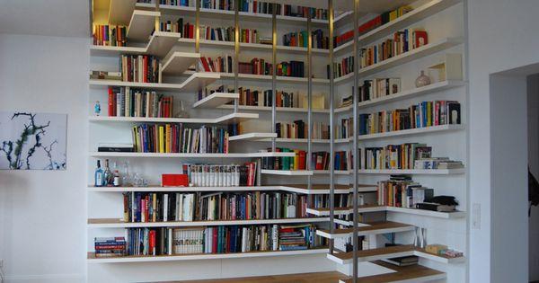 B chertreppe espacio interior pinterest bibliotecas - Escalera de biblioteca ...