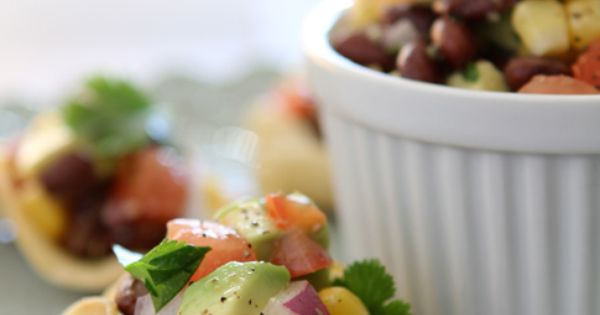 black bean, corn & avocado health food organic health healthy eating better