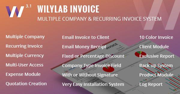 Wilylab Invoice  Recurring \ Multiple Company Invoice  Wilylab - generate invoices