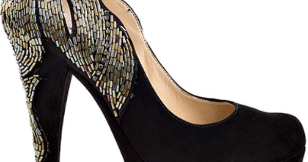 Black shoes #evening shoes wedding shoes beading   http://www.finditforweddings.com/bridesmaid-shoes/