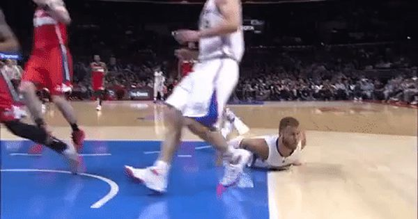 Basketball Nba Superman Magic Slide Bloopers Los Angeles Clippers Sliding Blake Griffin Clippers La Clippers Trending Gif On Giph Blake Griffin Nba Funny Nba