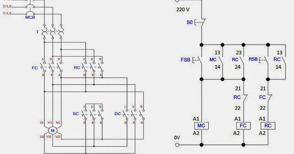 forward reverse 3 phase ac motor control star delta wiring diagram