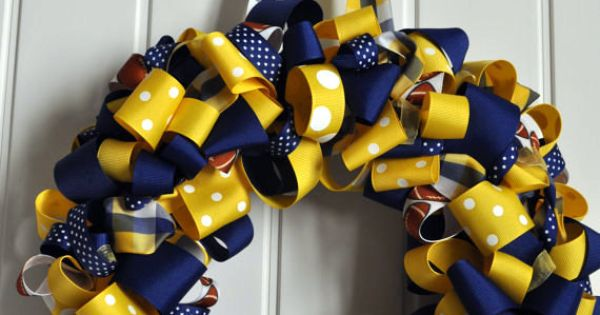 Mountaineer Football Wreath - awesome for football season