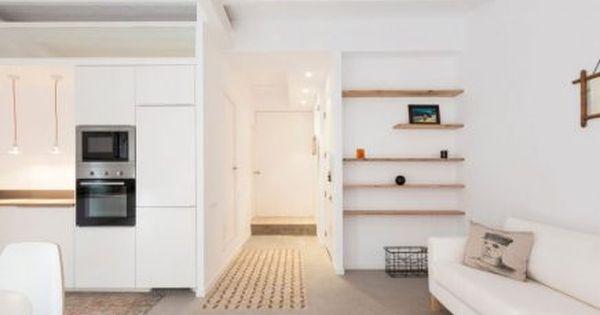Dit kleine appartement is onherkenbaar na een inspirerende verbouwing woonkamer pinterest - Een klein appartement ontwikkelen ...