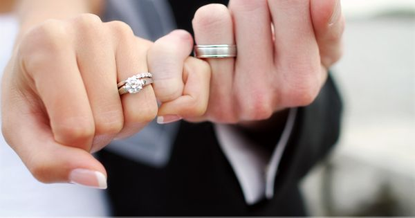 WEDDING PHOTO IDEAS: Pinky swear showing off the wedding rings ... when