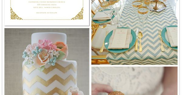 Modern Gold Wedding Inspiration Board - love the colors
