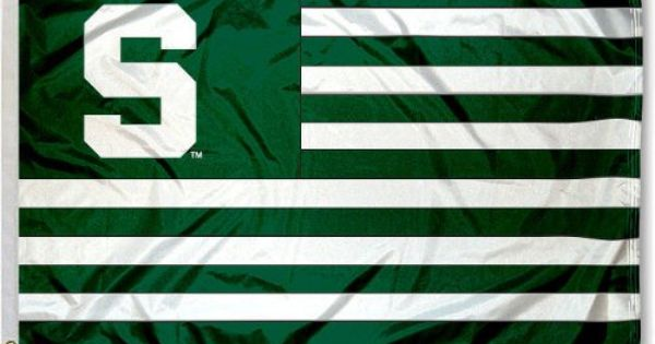 Michigan State Msu Spartans Alumni Nation Stripes Flag College Flags And Banners Co Http Ww Michigan State University Michigan State Michigan State Spartans