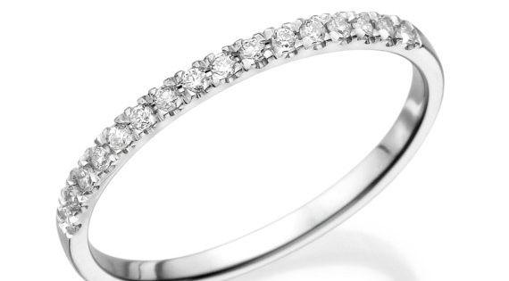 Half Eternity Wedding Band 14k White Gold Ring 0 12 Ct Diamond Eternity Ring Thin Gold Ring Eternity B Eternity Ring Diamond White Gold Rings Eternity Ring