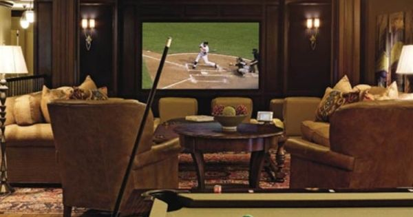Home Billiard Room Ideas | Home Interior: Beautiful Home Theater Room With