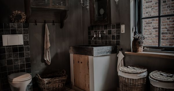 Landelijke badkamer met een hoffz inrichting landelijke badkamer pinterest modern - Deco badkamer vintage ...