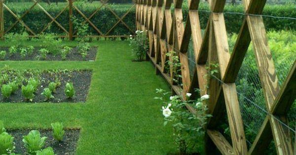 Unique fence unique fences pinterest deer fence for Elegant vegetable garden
