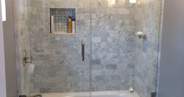 Hinged Glass Doors For Shower Tub Combo Hall Bath Ideas Pinterest Showe