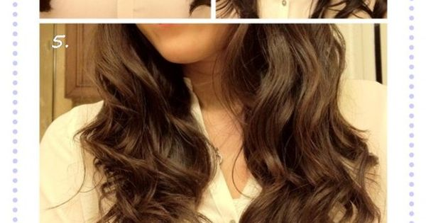 No heat curls. So easy if you have wavy hair. Go to