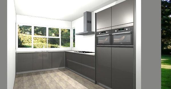Moderne Keukens Gent : Moderne keuken met composiet aanrechtblad. DB ...