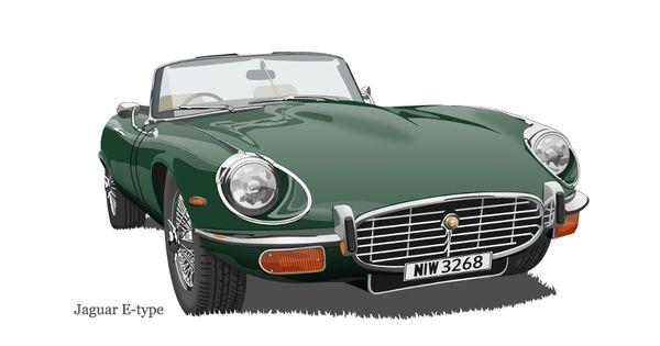 jaguar car drawing - photo #39