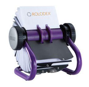 Purple 200 Sleeve Rotary Card File Rolodex Card Files Business Card Organizer