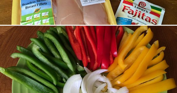 Easy recipe for Slow Cooker Chicken Fajitas. Just a few fresh ingredients